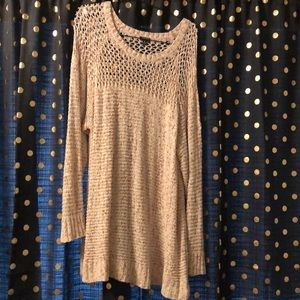 Pullover loose knit sweater